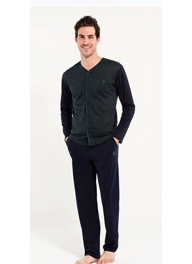U.S. Polo Assn. Boydan Patlı Pijama Takım Yeşil